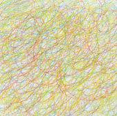 Abstraktní remíza klikyháky barevná tužka pozadí. textura papíru. — Stock fotografie