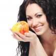 Beautiful woman with apple — Stock Photo #7266813