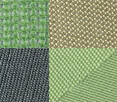Four types of fabric — Stock Photo