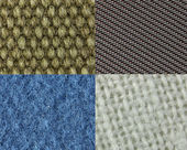 Four different types of fabric — Stock Photo