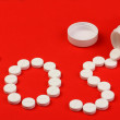 Word SOS made of pills — Stock Photo