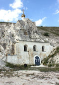 Orthodox church in the rock, museum Divnogorie — Stock Photo