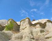 Bisarra klippformationer i kappadokien — Stockfoto