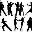 Sports dance — Image vectorielle