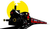Old american train — Stock Vector
