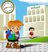 Meeting at school — Stock Vector