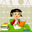 Lesson at school; — Stock Vector