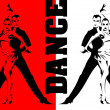 Dancing in the red light - Image vectorielle