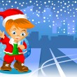 Christmas road — Stock Vector
