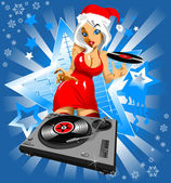 Christmas music — Stock Vector