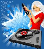 Fiocco di neve musica — Vettoriale Stock