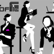 Royalty-Free Stock 矢量图片: Business woman at work