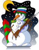 Snowman guard — Stock Vector