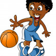Junior basketball player — Stock Vector