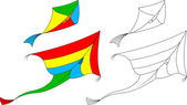 Kite flying — Stockvektor