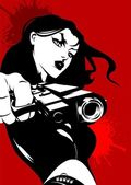 Assassino de mulher — Vetorial Stock