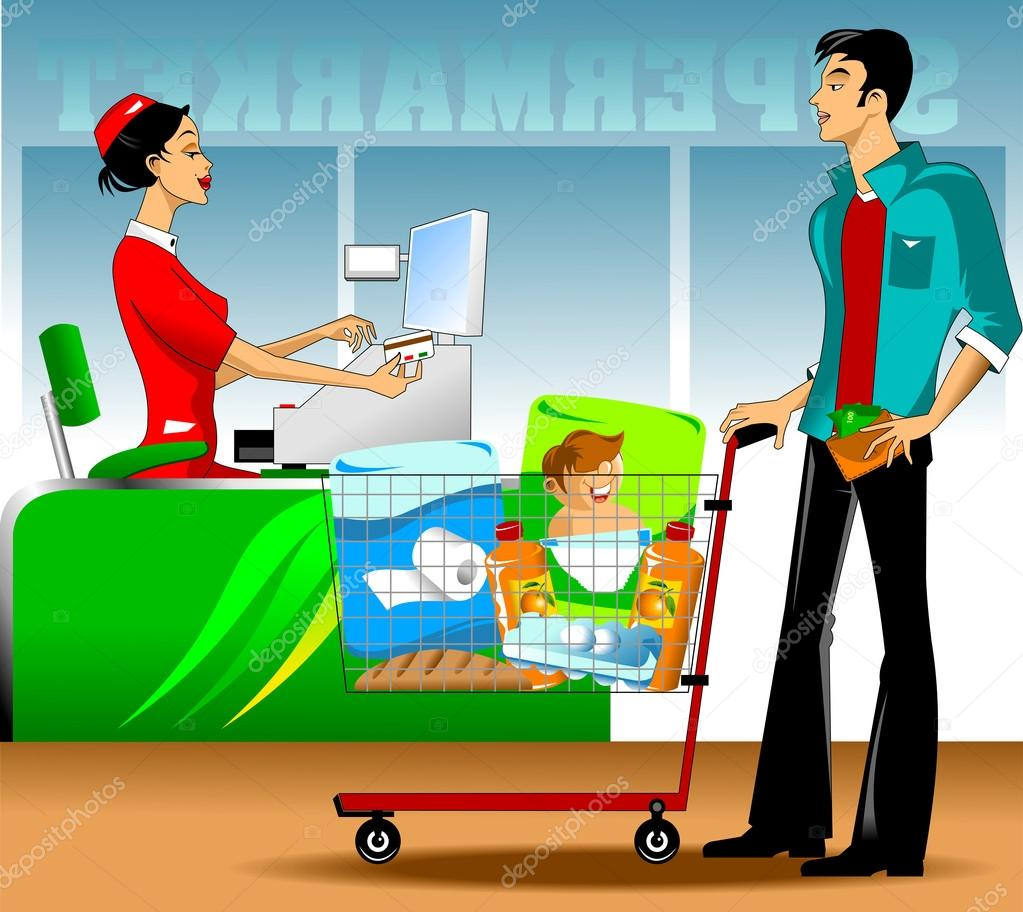 Рисунок покупателя и продавца