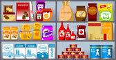Coleção de mercadorias — Vetorial Stock