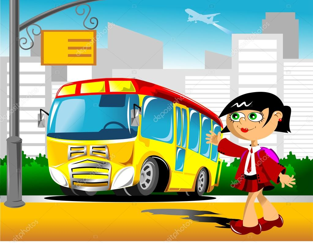 Bus Stop ad Vector a School Bus Stop Vector