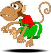 Dans eden maymun — Stok Vektör