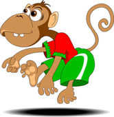 跳舞的猴子 — 图库矢量图片