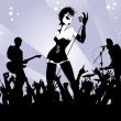 Punk rock concert — Stock Vector