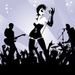 Punk rock concert — Stock Vector #24401179