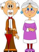 Grandparents — Stock Vector