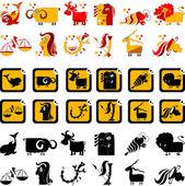 Lustiga zodiac — Stockvektor