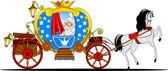 Princess in a carriage — Stock Vector