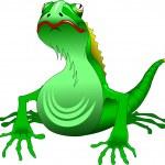Green lizard — Stock Vector #32794803