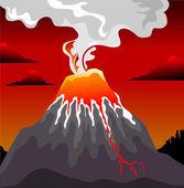 Volcano — Stock Vector