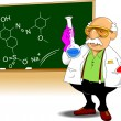 Stock Vector: Chemistry teacher