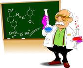 Chemistry teacher — Stock Vector