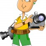 фотограф — Cтоковый вектор