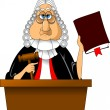 Stock Vector: Judge
