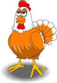 Redhead hen — Stock Vector