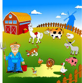My farm — Vector de stock