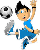 Soccer player attack — Stock Vector