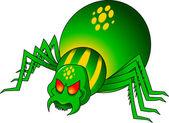 Green spider — Wektor stockowy