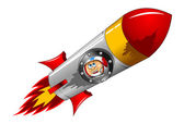 Astronaut in   rocket — Stockvector