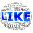 Social network words — Stock Photo