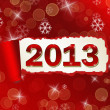 Torned paper Nev Year 2012 backround — Foto Stock
