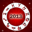 Astro 2013 , horoscope circle with zodiac signs — Stock Photo