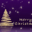 Simple Christmas background - Stock Photo