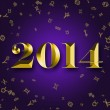 New Year 2014 with astrology signs — Stock Photo #31646615