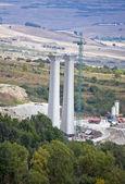 Viaducto de la autopista en construcción — Foto de Stock