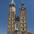 St Mary cathedral in main square in Krakow — Stock Photo