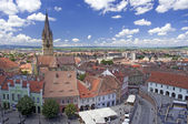 Arquitectura histórica plaza en sibiu rumania transilvania — Foto de Stock
