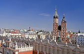 Krakow cityscape with St Mary cathedral — Stock Photo